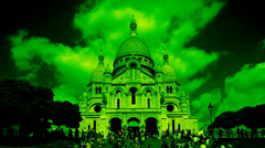 Stock Video Footage of sacre coeur, montmatre paris france, abstract colors