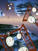 Time and space Stock Illustration
