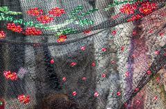 Openwork of orenburg downy shawl Stock Photos