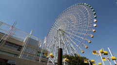 Ferris wheel in Osaka Stock Footage