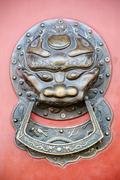 Chinese style doorknocker Stock Photos