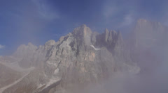 Cloudy Peak in Italian Alps, Stock Footage