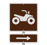 places to ride atv - stock illustration