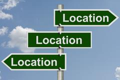 Real estate is all about the location Stock Illustration
