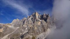 Peak in Dolomites, Italian Alps - stock footage