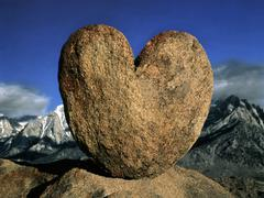 heart of rock - stock photo