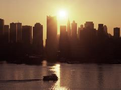 Manhattan New Jersey auringonnousu Kuvituskuvat