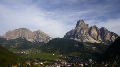Village in Italian Alps Stock Footage