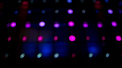 Led light wall, colorful pattern Stock Footage