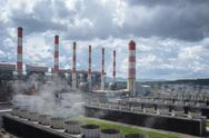 Production line in thermal power plant. Stock Photos