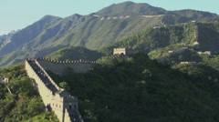 People walking at the great wall Stock Footage
