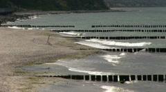 Germany - baltic sea - wave breaker Stock Footage