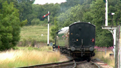 Vintage Steam Train In the Countryside Stock Footage