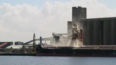 Ship unloading - stock footage