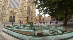 Model of the city of York England Stock Footage