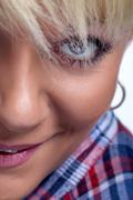 fashion eye make-up - stock photo