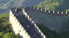 Tourism at the Great Wall Stock Footage