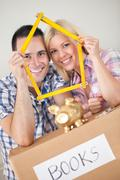 Young couple buying new home Stock Photos