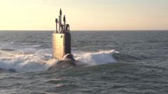 Stock Video Footage of The newest Virginia-class submarine Minnesota (SSN 783)