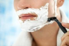 Close up of shaving Stock Photos
