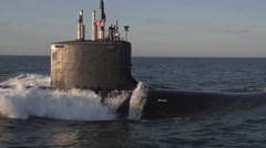 The newest Virginia-class submarine Minnesota (SSN 783) - stock footage