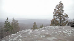 Mountains In The Woods - stock footage
