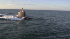 The newest Virginia-class submarine Minnesota (SSN 783) Stock Footage