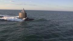 The newest Virginia-class submarine Minnesota (SSN 783) - stock footage