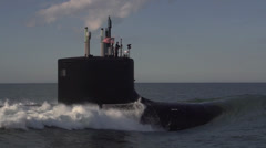 Stock Video Footage of The newest Virginia-class submarine Minnesota (SSN 783)