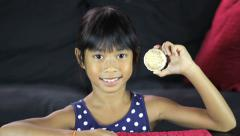 Girl With 1932 Olympic Gold Medal Stock Footage
