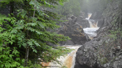 Cascade river falls 2 minnesota state park Stock Footage