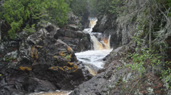 cascade river falls 1 minnesota state park - stock footage