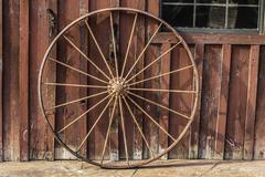 Wagon wheel background Stock Photos