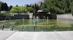 Fountain in the park. Stock Footage