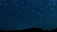 Star trails time lapse Stock Footage