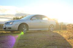 Stock Photo of Sunny And View Of The Car With Lens Flares - Opel Vectra GTS