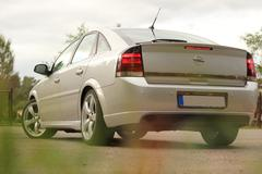 Stock Photo of Back Of The Car - Opel Vectra GTS