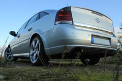 Stock Photo of Angle Back View Of  The Car- Opel Vectra GTS