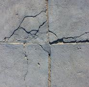 Stock Illustration of cement wall with crack