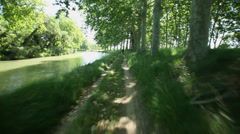 Canal du Midi in France Stock Footage