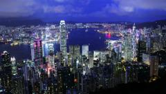 City Timelapse. Hong Kong. 4K. Stock Footage