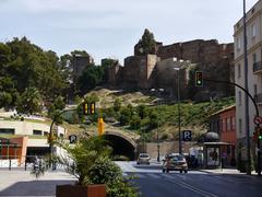 Alcazaba and the Málaga Tunnel Stock Photos