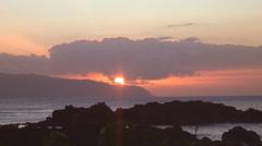 Oahu Sunset 2 - stock footage