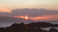Stock Video Footage of Oahu Sunset 2