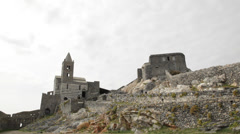 Church of St. Peter, Portovenere, Italy. Stock Footage