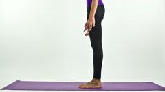 Woman yoga meditation peace pose practise exercise spiritual Stock Footage
