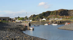 Entrance to harbour on Isle of Easdale Scotland on September 30th, 2013 Stock Footage