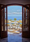 Amalfi Coast Dining - stock photo