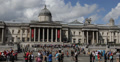 Ultra HD 4K National Gallery Stairs London, Meeting Place Gathering, Crowd UK Footage