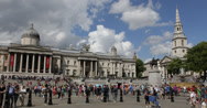 Ultra HD 4K St Martin in the Fields Church London Westminster National Gallery Stock Footage